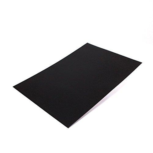 10 x Farbige Magnetfolie DIN A4 Format zum Beschriften und Zuschneiden, Farbe: schwarz