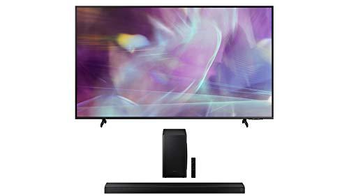 "Samsung QN43Q60AA 43"" QLED Q60 Series 4K Smart TV Titan Gray with a Samsung HW-T650 Bluetooth Soundbar with Dolby Audio Wireless Subwoofer (2021)"