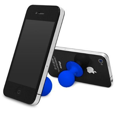 Importer520 Silicone Suction Ball Stand Holder for LG Mach LS860 (Boost Mobile, Sprint) - Blue