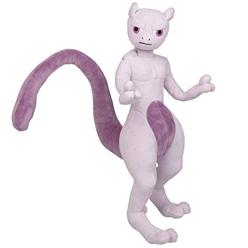 Boti 35799 Action Plüschfigur Mewtwo, bekannt aus dem Pokémon Film Detective Pikachu, ca. 30 cm groß, zum Kuscheln und Spielen, EIN Muss für alle Fans,, bunt