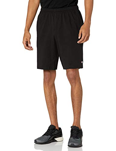 Champion Men's Jersey Short With Pockets, Black, Large
