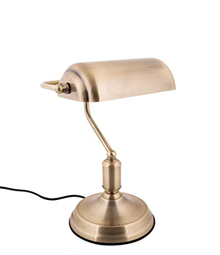 Present time - Lampe à poser antique fer doré BANK