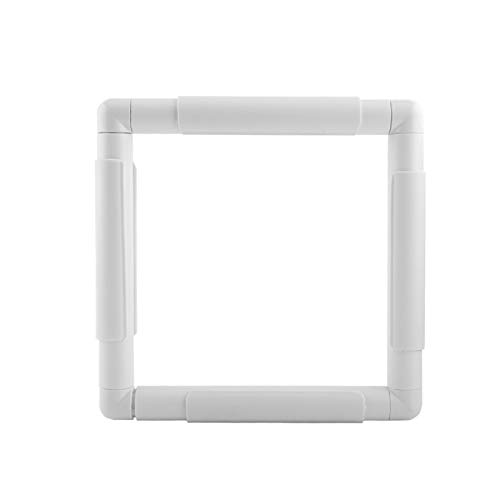 FAMKIT Embroidery Clip Frame, Square Rectangle Plastic Clip Frame for Embroidery Cross Stitch Quilting Needlepoint Tool for Embroidery, Quilting, Needlepoint, Silk-Painting