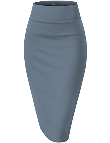 Hybrid & Company Womens Pencil Skirt for Office Wear KSK43584 1139 Blue RIVIE XL