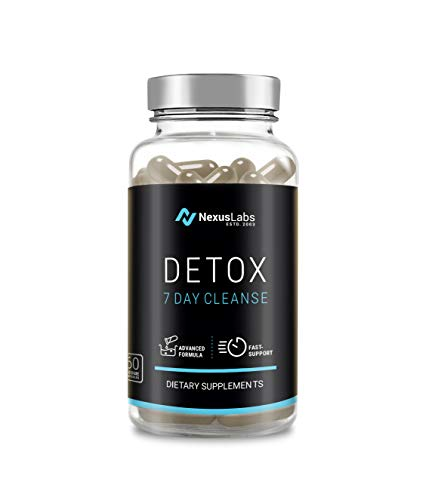 Nexus Labs Detox 60 Capsules with Milk Thistle Extracts – Fast Removal of Toxins and Impurities from Urinary Tract Kidneys and Liver in 7 to 10 Days