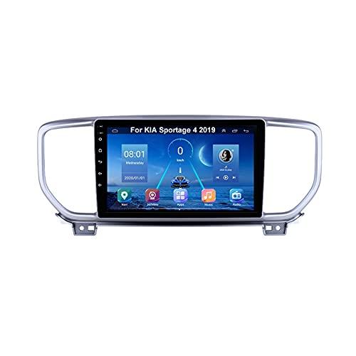 Android 10 Car Stereo 9 Pulgadas Pantalla Tactil Para Coche Multimedia Navegación Gps Para KIA Sportage 4 2019 Con Pantalla Coche Conecta Y Reproduce Bluetooth Video SWC Cámara Trasera