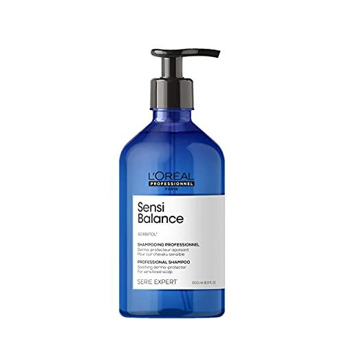 L'Oréal Professionnel | Shampoing Dermo-Protecteur pour Cuir Chevelu Sensible, Sensi Balance, SERIE EXPERT, 500 ml