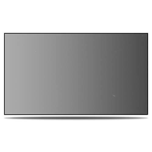 Release 2.35: 1 Pantalla de proyector de rechazo de luz Ambiental acústicamente Transparente Pantalla de Marco Fijo de Borde Cero (Size : 180 Inch)