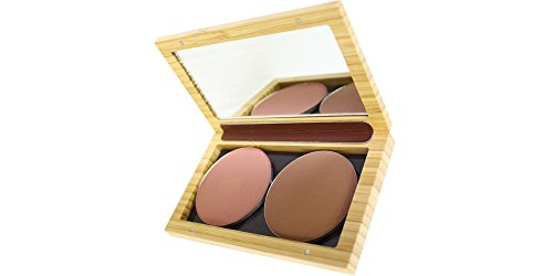 ZAO Bamboo Box (Empty) Cosmetics Refill Case - Refill Box for Eyeshadow, Powder, Blusher by ZAO essence of nature