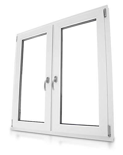 Fenster 2-flg mit Aufsatzrolladen elektrisch. Kunststoff/Weiß/Dreh-Kipp. Breite 147 x Höhe 180, 2-fach Verglasung