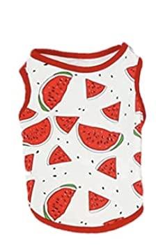 Crea-Maglietta in cotone per cani, primavera/estate con motivo Frutta. Disponibili in 4 taglie. (XXL, Anguria)