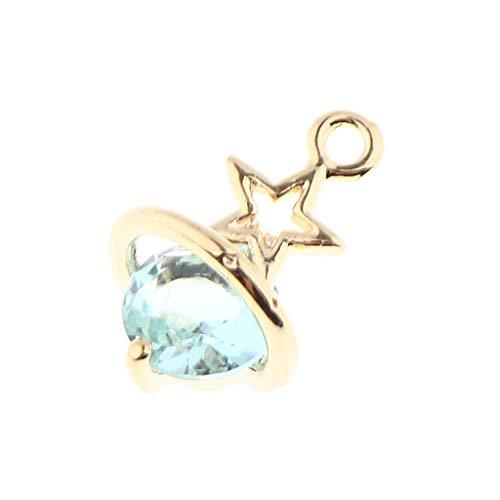Hellery Estrella Colgante Cuentas de Cristal Joyería Que Hace Encantos Joyería de Circón Collar de Bricolaje