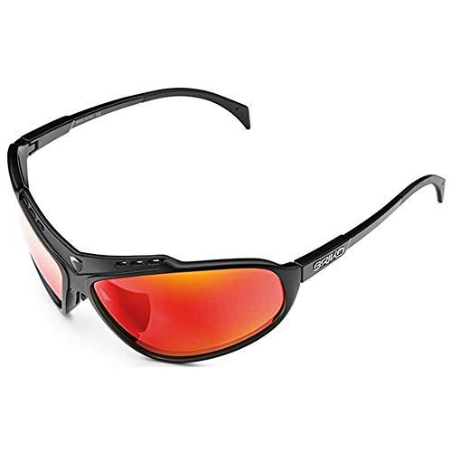 Briko Stinger Sonnenbrille, Unisex, Erwachsene, Mattschwarz, One