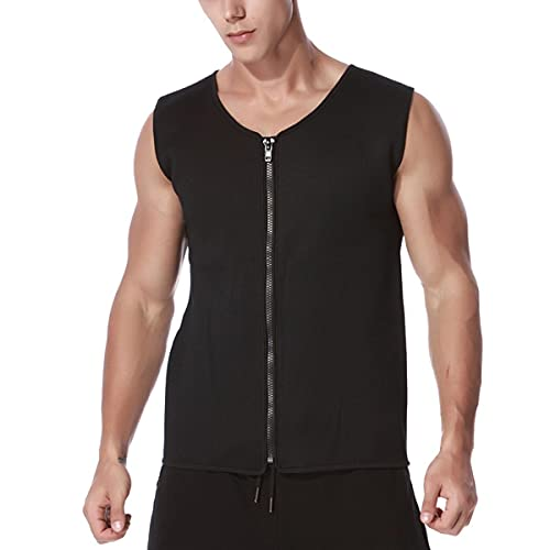 mnzncrfee Camisas de compresión para Hombres Fajas para Adelgazar Body Shaper Cintura Entrenador Chaleco Entrenamiento Camisetas sin Mangas Abdomen Underhirts,3XL