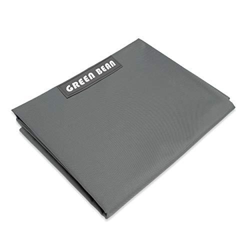 Green Bean © Square XL Riesensitzsackhülle 120x160 cm - PVC Bezug - Indoor und Outdoor Sitzsackhülle - Bean Bag Bezug - Sitzsackbezug ohne Füllung - Lounge Chair Hülle - abwaschbar - Grau