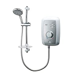 Start/stop button for select and forget showering. Minimum Running Pressure / Flow: 0.1 Bar @ 8 l/min & Maximum Static Pressure: 10 Bar Phased shutdown (reducing limescale build up). Shower Head Diameter - 110mm / 4 inches. Rail Diameter - 20.6mm / 0...