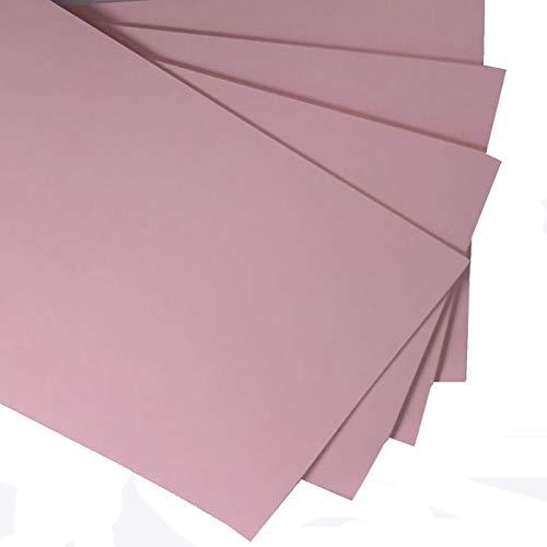 Cartulina fina rosa claro para impresión y manualidades, tamaño A3, 160 g, paquete de 20 hojas, apta para impresoras, fotocopiadoras y actividades creativas