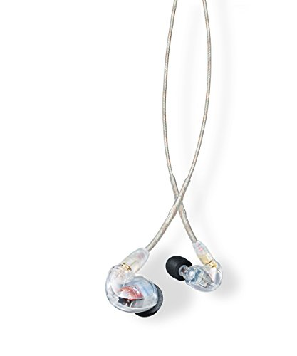 Shure SE425-CL Professional Sound Isolating Earphones with Dual High Definition MicroDrivers, Secure In-Ear Fit - Clear