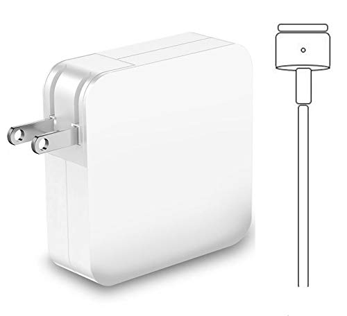 Mac Book Charger 60W, T-Tip Magnetic Power Adapter Compatible with Magsafe 2 MacBook Pro 13 inch/MacBook Air 11-inch 13-inch (After Late 2012)