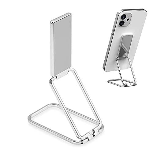 Soporte para anillo de teléfono celular Soporte para dedo - Soporte magnético retráctil portátil plegable para teléfono móvil, soporte de agarre trasero para teléfono con rotación de 360 ° ultrafino