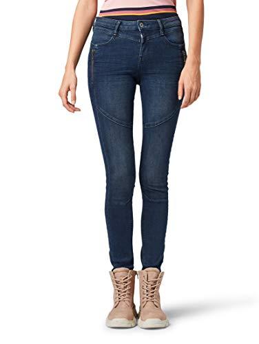 TOM TAILOR Denim Damen Jeanshosen Jona Extra Skinny Jeans mid Stone wash Denim,30/32