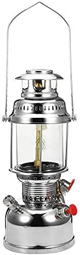 500W Luz para acampar Presión queroseno Iluminación exterior Adornos Luz de vapor Linterna de aceite Iluminación Lámpara de queroseno exterior en el tipo de lámpara de luz especial Lámpara de calefacc