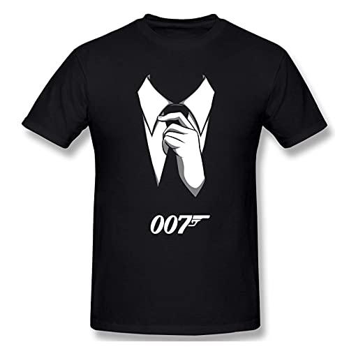 JustDavid T-Shirt James Bond 007 Thunderbolt Sean Connery Maniche Corte in Cotone con Grafica Grafica Girocollo da Uomo