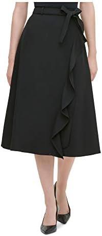 A line jean skirt _image2