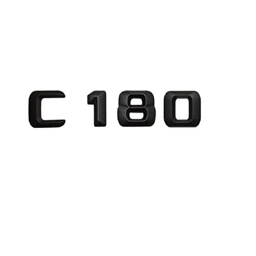 OceanAutos Für Mercedes Benz C Klasse C180, Matt Schwarz C 180' Kofferraum Heckbuchstaben Wörter Nummer Abzeichen...