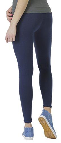 BeLady Damen Leggings Knöchellang aus Baumwolle Blickdichte Leggins Viele Farben (Dunkelblau, S - 36)