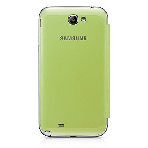 Samsung Original schützende Display-Klappe / Flip-Cover EFC-1J9FLEGSTD (kompatibel mit Galaxy Note 2 / Note 2 LTE) in lime green