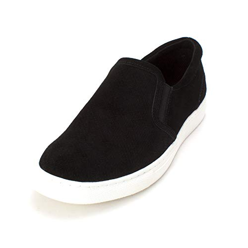 Bar III Mens Brant Leather Low Top Slip On Fashion Sneakers, Black, Size 11.5