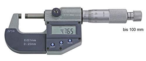 MIB Digital-Bügelmessschraube, ABS Mikrometer-Schraube 0-300 mm zur AUSWAHL: 25-50 mm