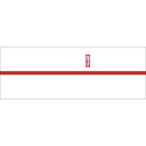 ササガワ OA対応のし紙 熨斗紙 豆判4号 赤棒 京 2-674 1セット 1000枚:100枚×10冊