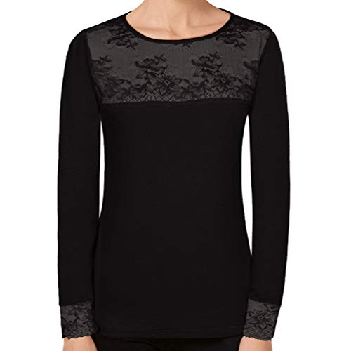 JANIRA Camiseta Charlize Modal CTA M/L C/R - Negro, L