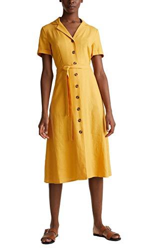ESPRIT 030ee1e344 Vestito, 710/Honey Yellow, 36 Donna