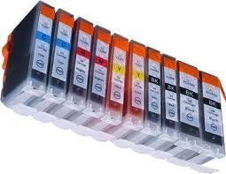 10 kompatible Druckerpatronen für Canon IP4850 IP4950 MG5150 MG5250 MG5350 MG6150 MG6250 PGI-525,CLI-526BK,CLI-526C,CLI-526M,CLI-526Y