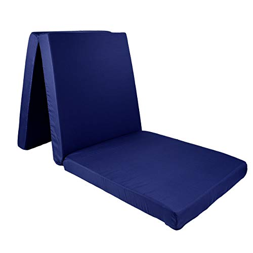Premium Faltmatratze Klappmatratze Matratze faltbar klappbar Gäste Matratze Notbett 190 x 60 x 7cm Blau