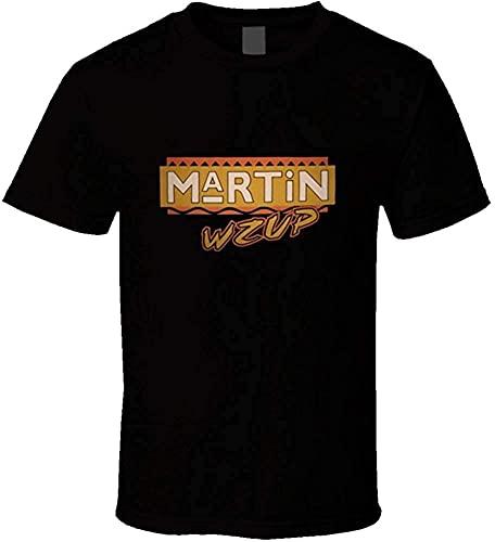 Martin 90's Sitcom TV Show Hip Hop Camisetas Moda Hombre Comodidad Suave Camisetas de Manga Corta Camisa atlética del Entrenamiento del Gimnasio del músculo T-Shirt