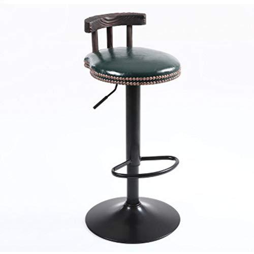 NAN liang Mobilier de bar, siège ergonomique en bois massif de style américain moderne, pivotant, tabourets de bar en métal noir avec cadre en métal, 7 couleurs (Couleur : G)