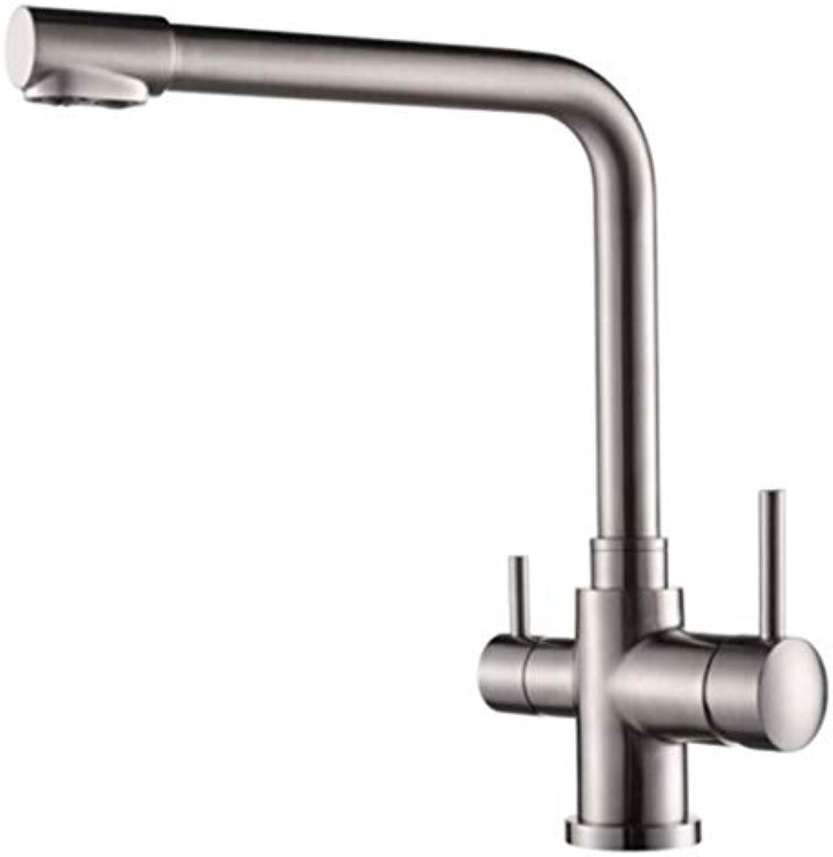 Wasserhahn Spulen Gebürsteter Nickel Spüle Logisedelstahl-Fliter-Küchenarmatur Mit Bleifreiem Spülbeckenarmatur Und Gebürsteter Küchen-Mischbatterie