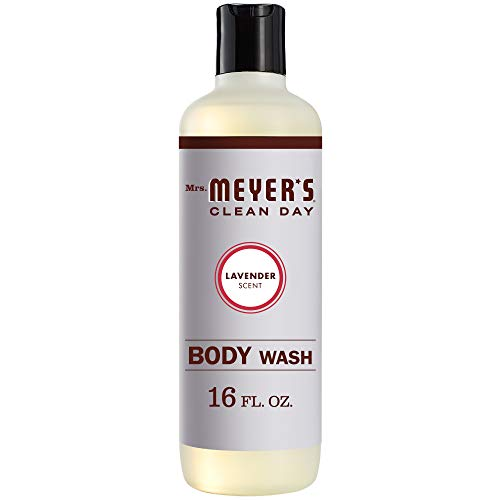 Mrs. Meyer's Clean Day Moisturizing Body Wash for Women and Men, Cruelty Free and Biodegradable Shower Gel Made with Essential Oils, Lavender Scent, 16 oz