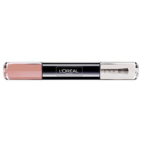 L'Oréal Paris Indefectible Nagellack Violett / 2 in 1 Top Coat und Unterlack in sanftem Lila / 012 Forever Mink / 1 x 10 ml
