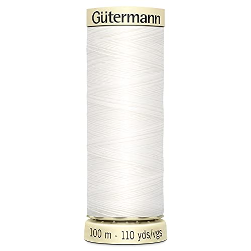 Gutermann fil à coudre sew-all 100m–800Blanc