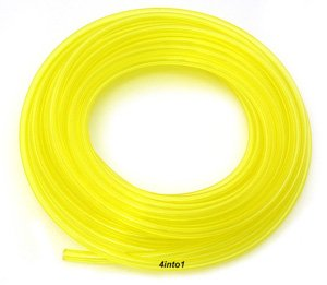 "Helix Clear Yellow 1/8"" Polyurethane Fuel/Vent Line - 5' Feet"