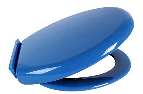 Copriwater Sedile WC Universale Coperchio Toilet Seat Bagno in Plastica (Blu)