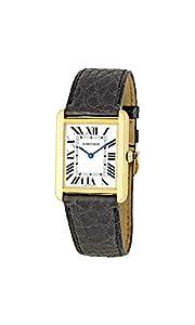 Cartier Men's W1018855 Tank Solo 18kt Yellow Gold Watch image