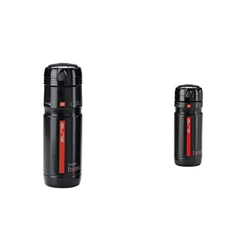 Elite Superbyasi - Bidón Para Bicicleta, Color Negro, 750 Ml + Byasi Porta - Utensilios - Botella De Agua, Negro