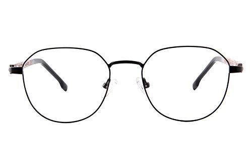 SHINU Anti Blue Ray Computer Lesebrille Holz Brille mit Federscharnier -LH902 Gr. M, Schwarz