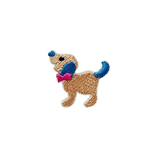 animales perro - Parches termoadhesivos bordados aplique para ropa, tamaño: 2,7 x...